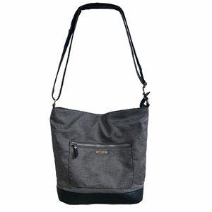 Roots Heatherd Grey Crossbody Bag